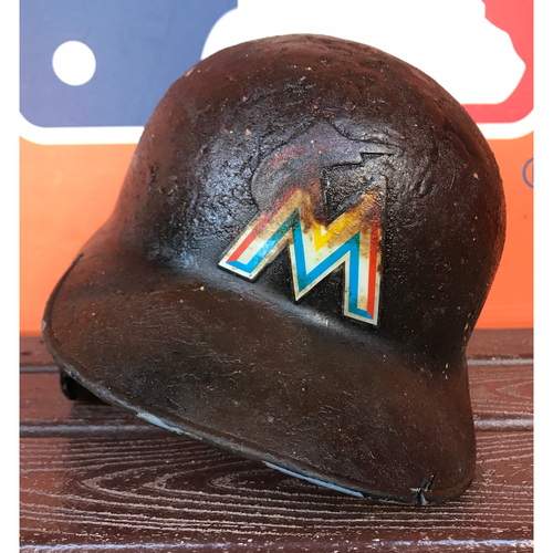 Game-Used Helmet: Justin Bour - Size 7 5/8