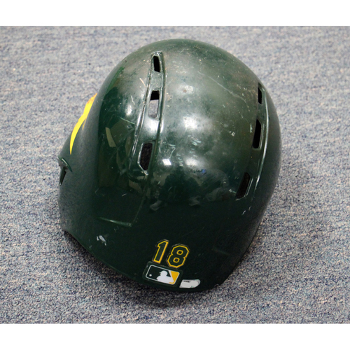 Chad Pinder Game-Used Helmet