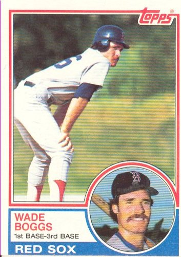 Photo of 1983 Topps #498 Wade Boggs Rookie Card Hall of Fame Class of 2005