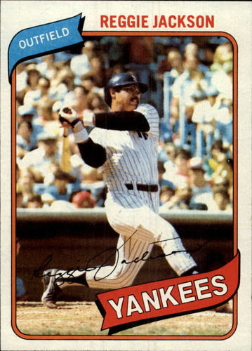 Photo of 1980 Topps #600 Reggie Jackson -- Hall of Fame Class of 1993