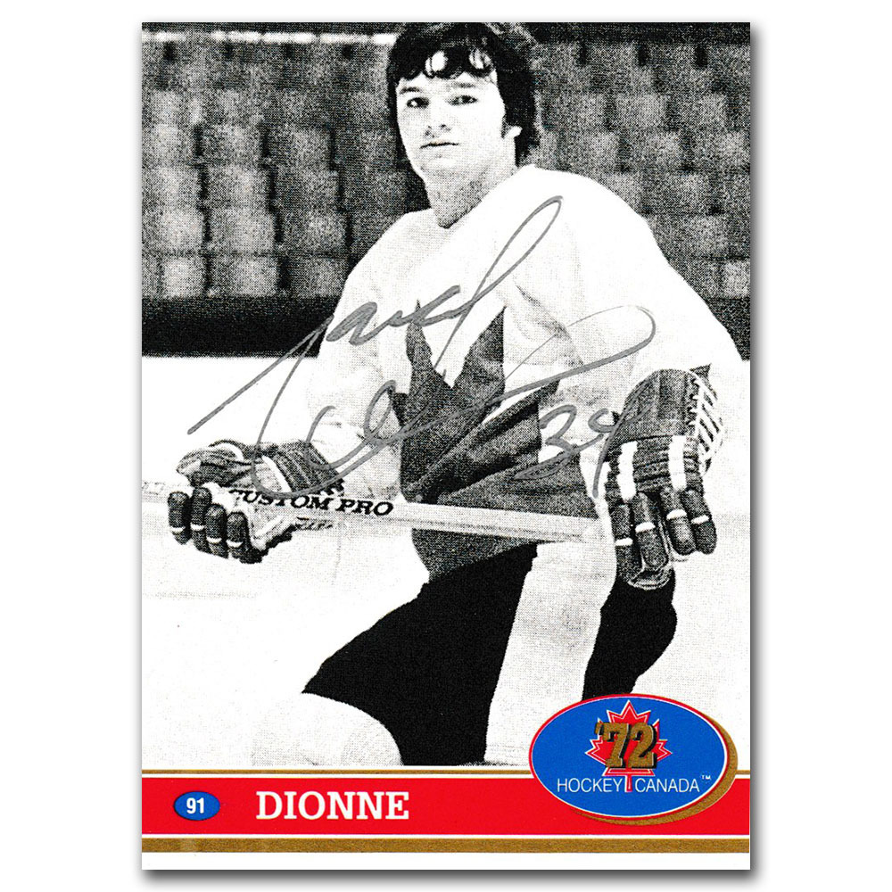 Marcel Dionne Autographed 1991-92 Future Trends 1972 Team Canada Hockey Card