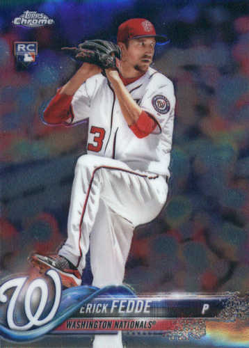 Photo of 2018 Topps Chrome #76 Erick Fedde RC