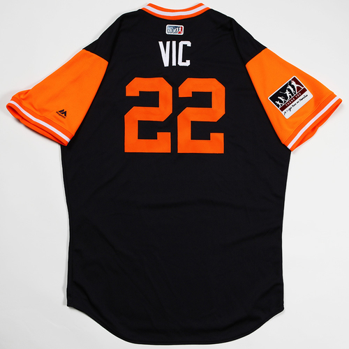"Photo of Victor ""Vic"" Reyes Detroit Tigers Game-Used 2018 Players' Weekend Jersey"