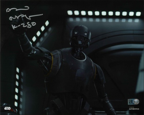PREORDER Alan Tudyk As K-2SO 8X10 Autographed in Silver Ink Photo
