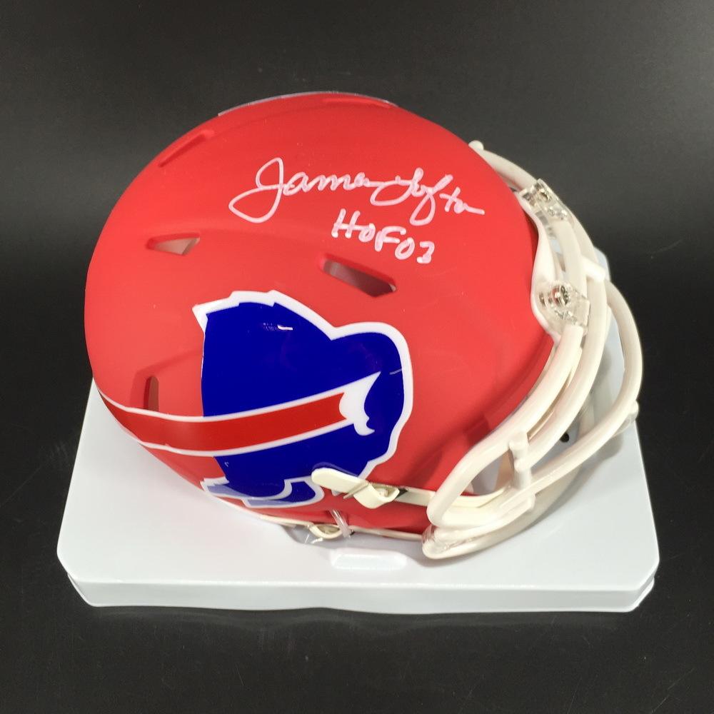 HOF - Bills James Lofton Signed Amp Alt Mini Helmet