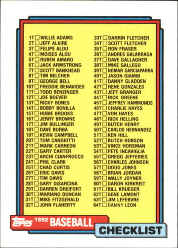 Photo of 1992 Topps Traded #132T Checklist 1T-132T