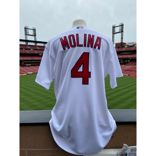 Photo of Cardinals Authentics: Team Issued Yadier Molina Home White Jersey