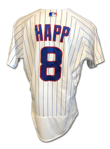 Photo of Ian Happ Game-Used Jersey -- Cardinals vs. Cubs -- 9/7/2020 -- Happ: 1 for 2, 2B, 3 BB, 1 R -- Size 44T
