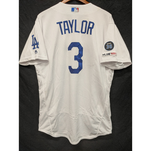Photo of Chris Taylor Game-Used Home Jersey, Last Home Game of 2019