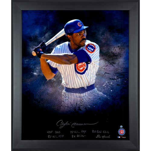 "Photo of Andre Dawson Chicago Cubs Framed Autographed 20"" x 24"" In Focus Photograph with Multiple Inscriptions-#24 of a L. E. of 24"