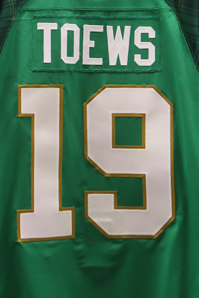 #19 - Jonathan Toews Autographed Authentic St. Patrick's Day Jersey