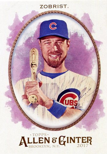 Photo of 2017 Topps Allen and Ginter #197 Ben Zobrist