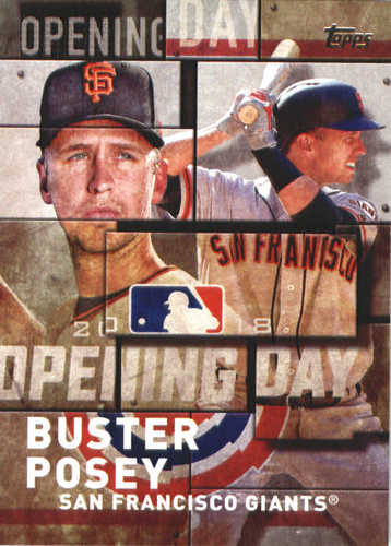 Photo of 2018 Topps Opening Day Insert #OD13 Buster Posey