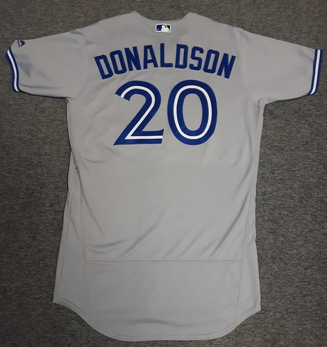 Photo of Authenticated Team Issued Jersey - #20 Josh Donaldson (2017 Season). Size 44.