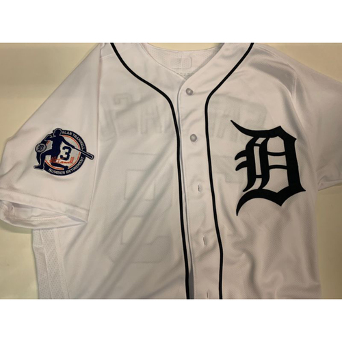 Photo of Team-Issued Alan Trammell Number Retirement Day Jersey: Francisco Liriano