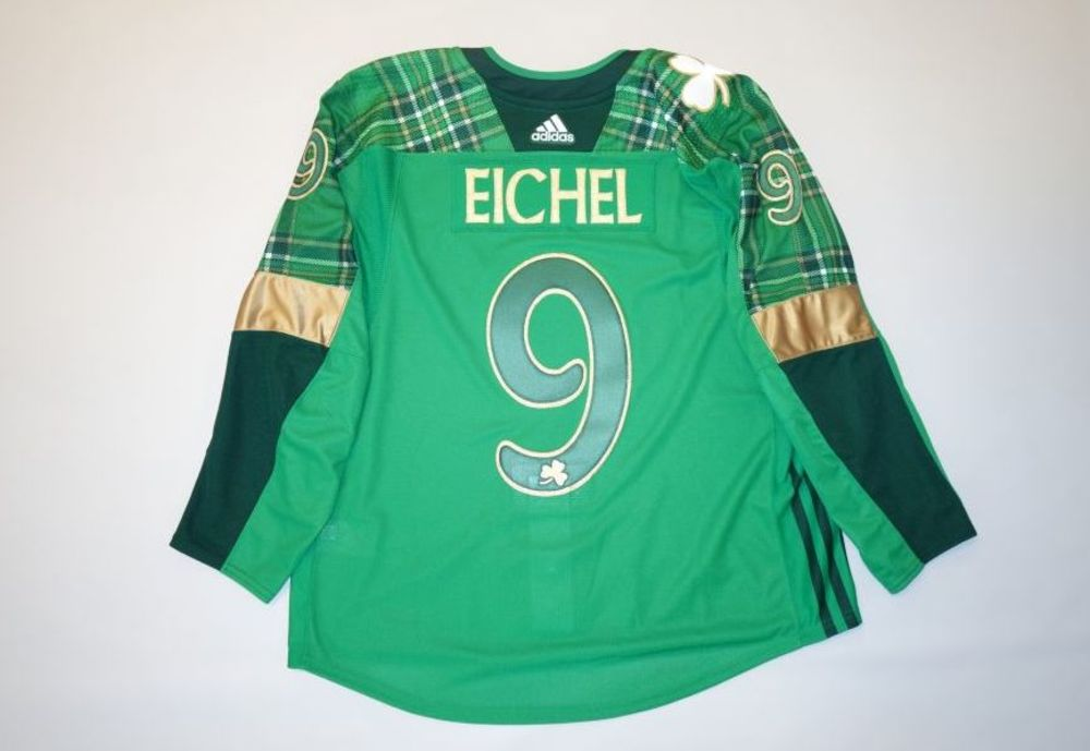 low priced 9fc61 d3b6c Jack Eichel 2019 Buffalo Sabres St. Patrick's Day Jersey ...