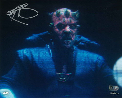 Ray Park As Darth Maul 8X10 AUTOGRAPHED IN 'SILVER' INK PHOTO