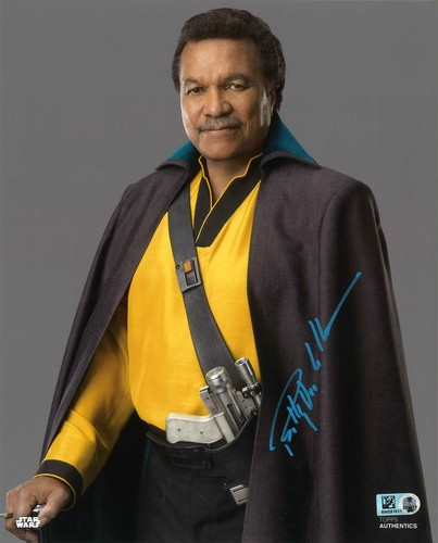Billy Dee Williams As Lando Calrissian 8X10 AUTOGRAPHED IN 'Blue' INK PHOTO
