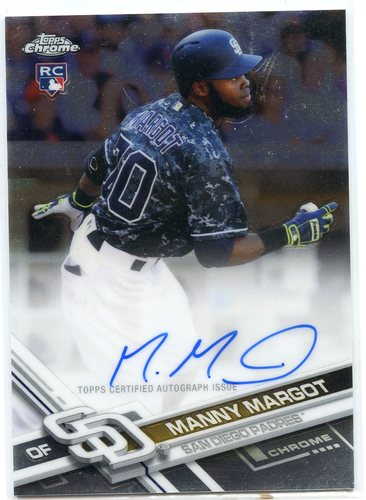 Photo of 2017 Topps Chrome Rookie Autographs #RAMM Manny Margot