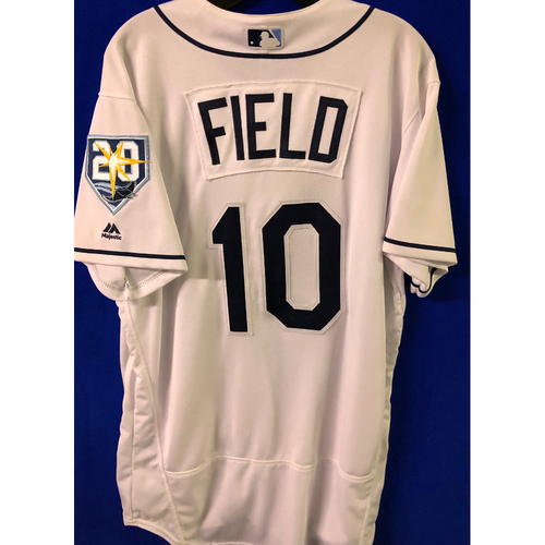 Photo of Game Used Jersey & Lineup Card: Johnny Field - MLB Debut - April 14, 2018 v PHI