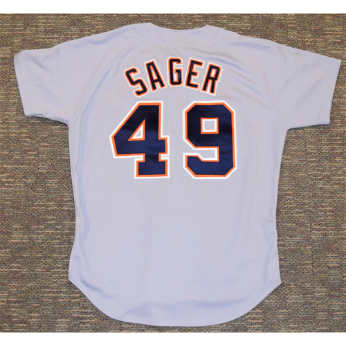 Photo of A.J Sager Detroit Tigers #49 Road Jersey (NOT MLB  AUTHENTICATED)