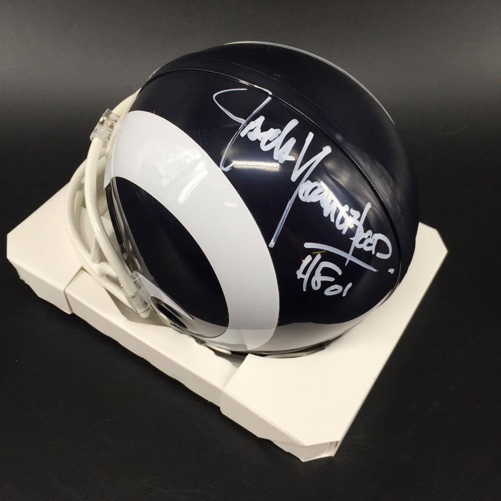 HOF - Rams Jack Youngblood Signed Mini Helmet