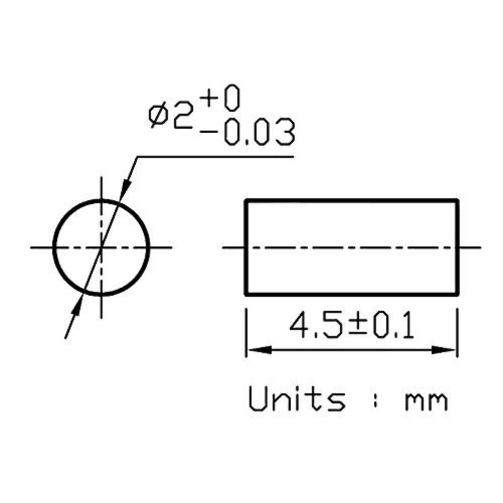 Photo of Laser Diode Rod Lens - Quarton ?2x4.5, 3PCS