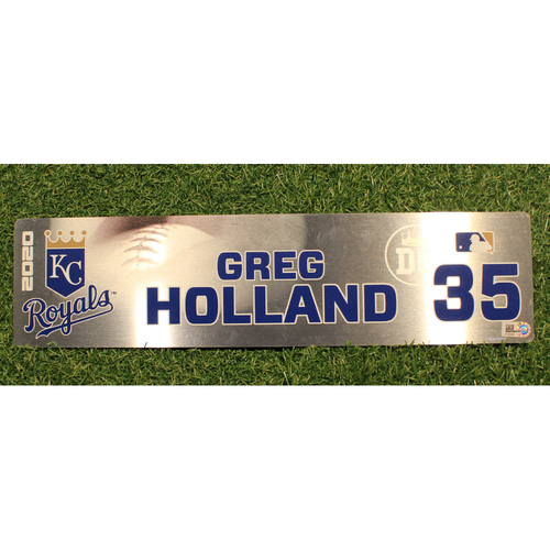 Photo of Game-Used Locker Tag: Greg Holland #35 (DET @ KC 9/24/20)