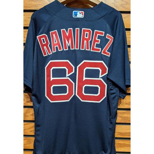 Photo of Noe Ramirez #66 Team Issue Navy Road Alternate Jersey