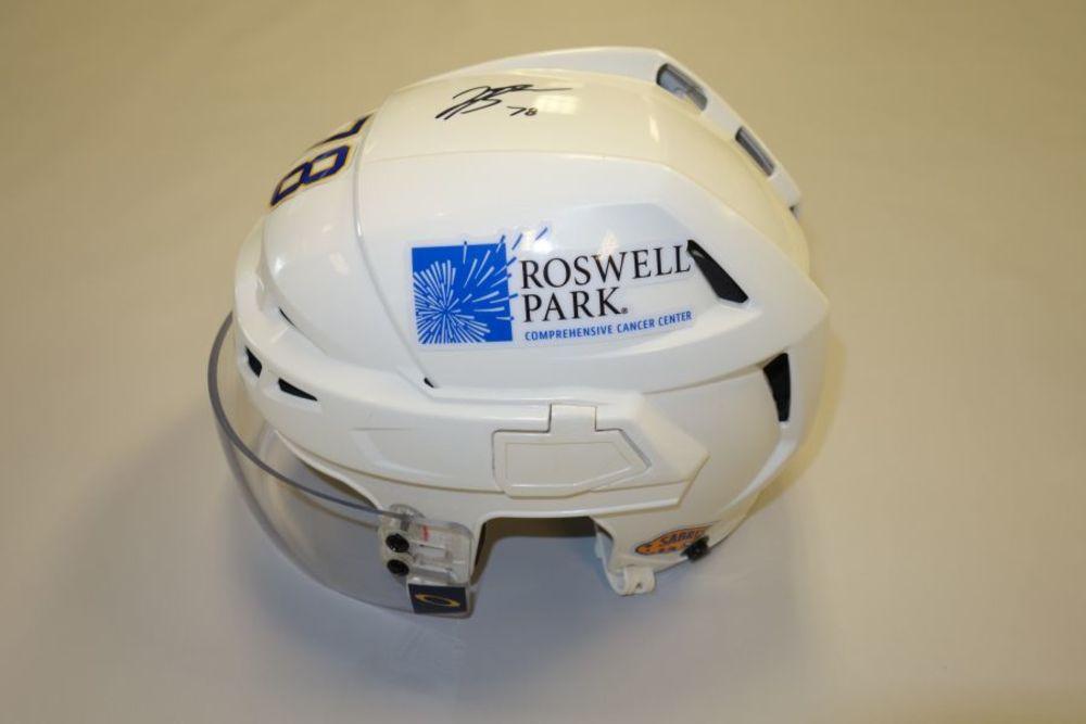 Jacob Bryson 2020-21 Autographed Game-Used Helmet