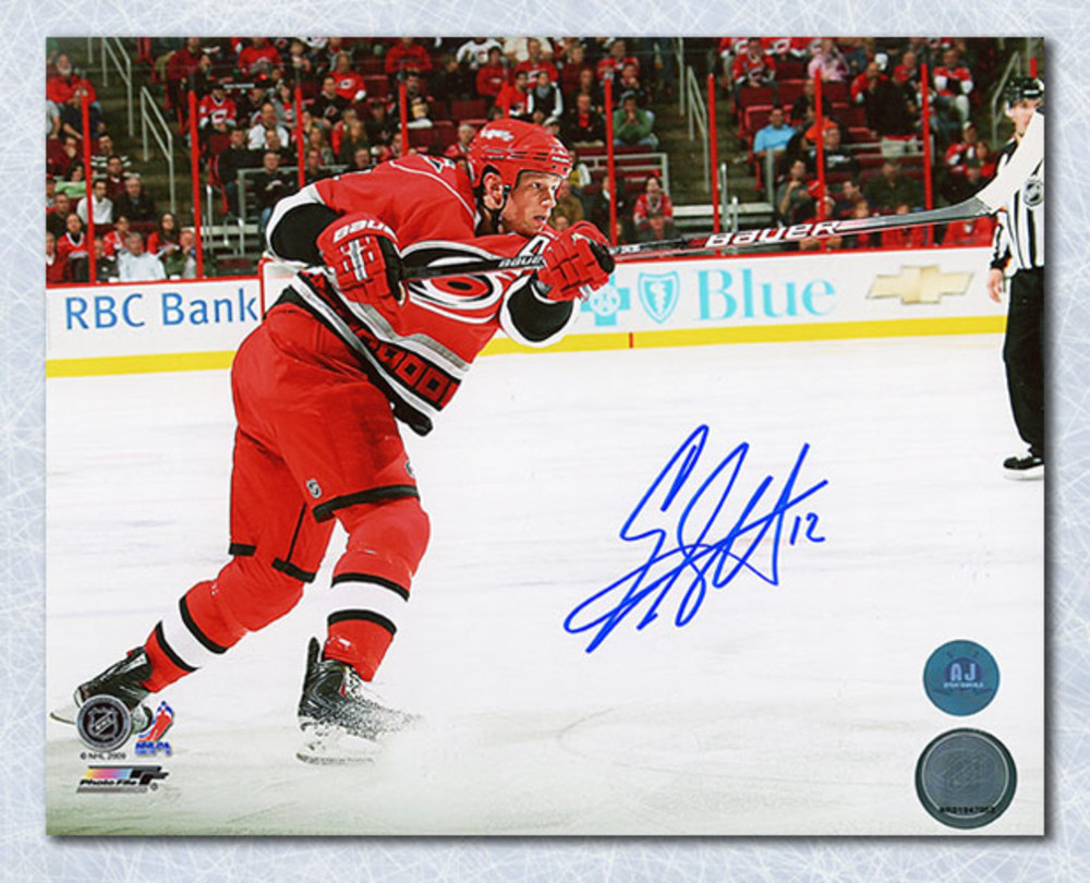 Eric Staal Carolina Hurricanes Autographed Hockey Sniper 8x10 Photo