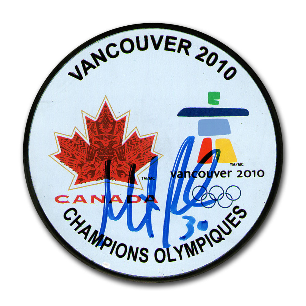 Martin Brodeur (New Jersey Devils) Autographed Team Canada 2010 Olympic Champions Puck