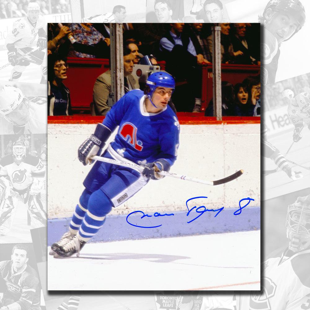 Marc Tardif Quebec Nordiques Autographed 8x10