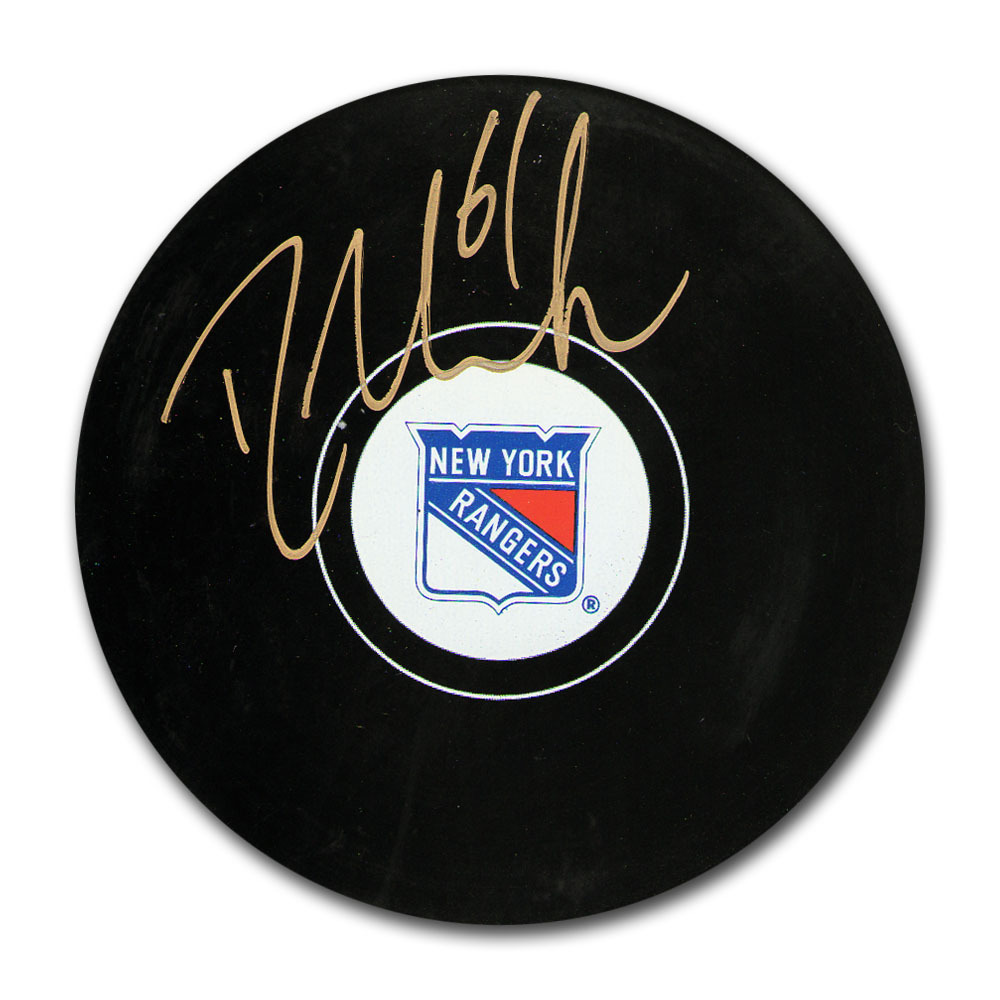 Rick Nash Autographed New York Rangers Puck