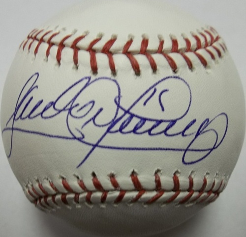 Photo of Sandy Alomar Jr. Autographed Baseball