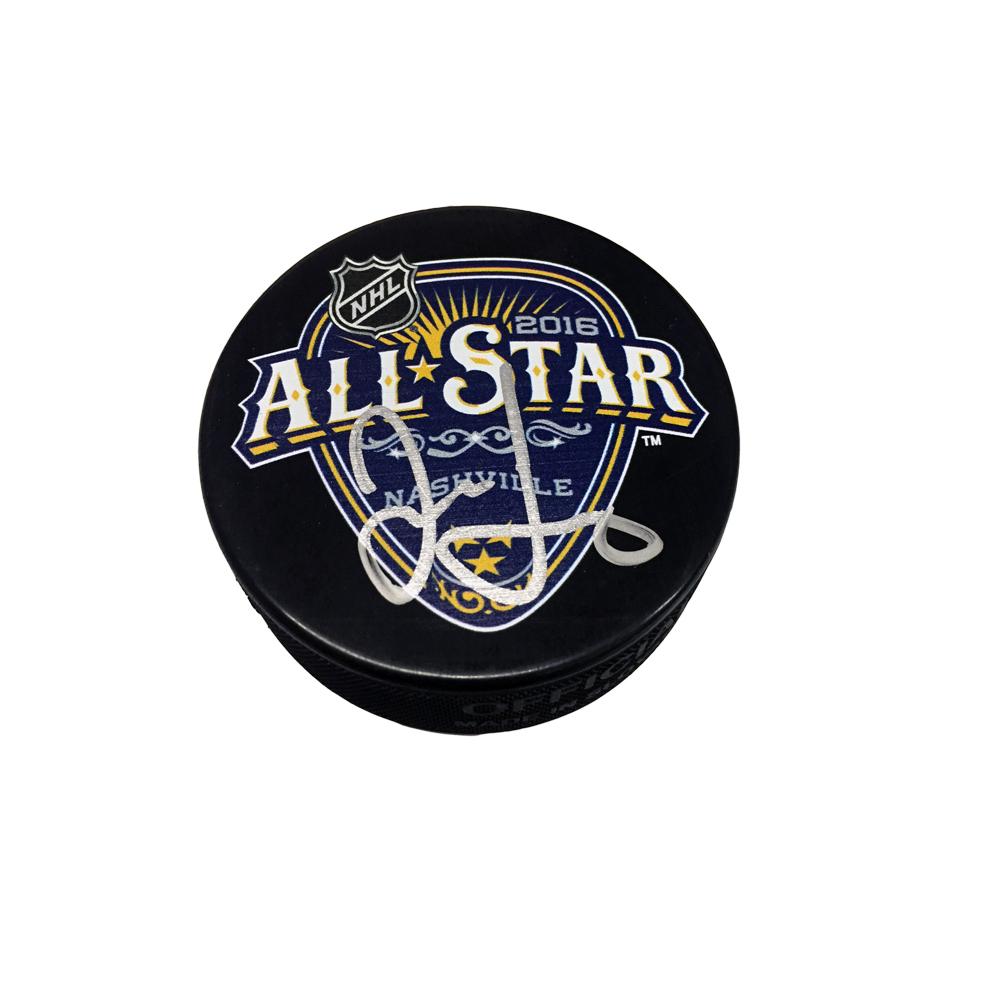 JAROMIR JAGR Signed 2016 NHL All-Star Game Puck