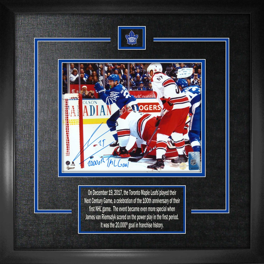 new product 73a0d f7dcc James Van Riemsdyk - Signed 8x10 Etched Mat Maple Leafs ...