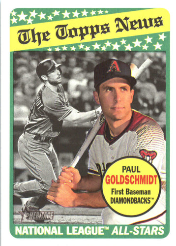 Photo of 2018 Topps Heritage #46 Paul Goldschmidt