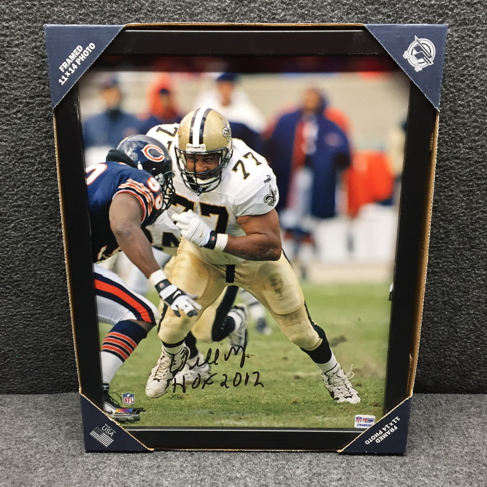 HOF - SAINTS WILLIE ROAF SIGNED 11X14 FRAMED PICTURE