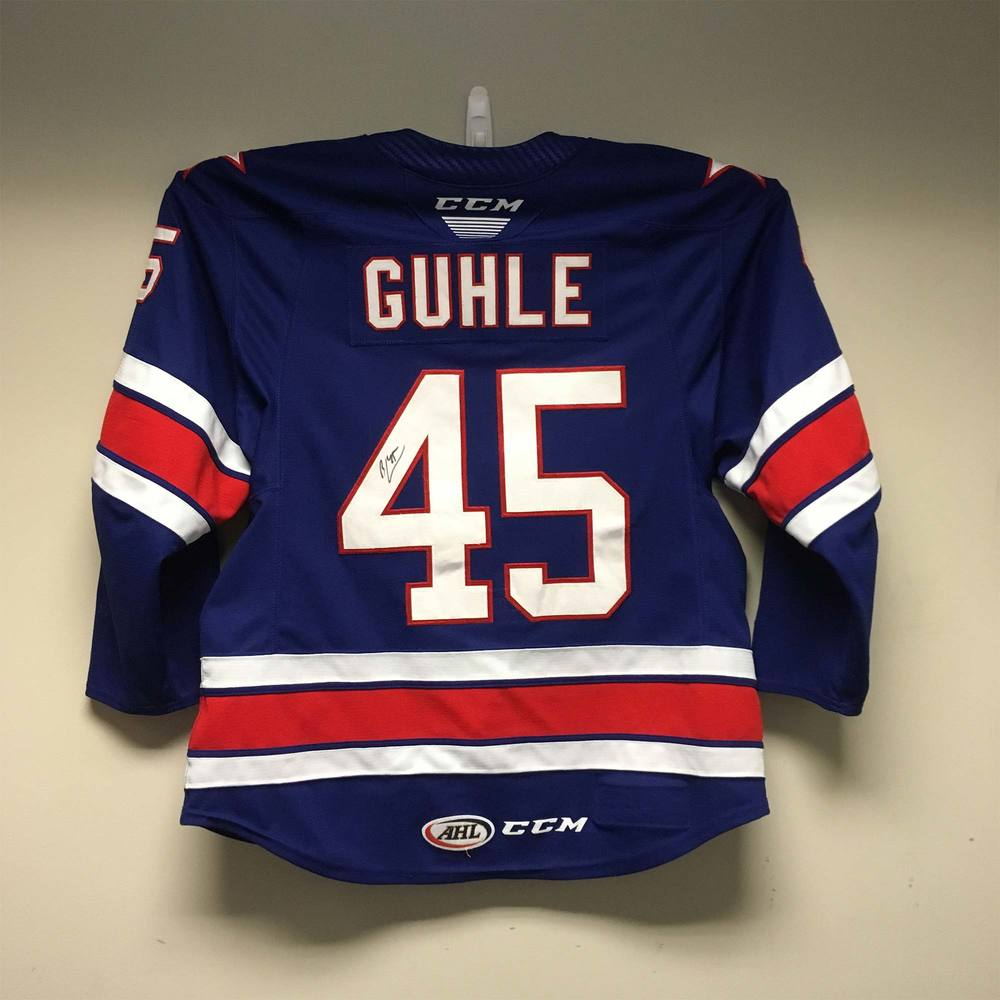 2019 Lexus AHL All-Star Skills Competition Jersey Worn and Signed by #45 Brendan Guhle