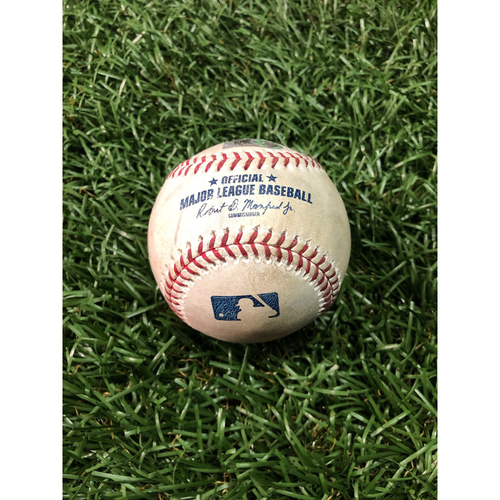Photo of Game Used Baseball: Michael Brantley single off Blake Snell - OPENING DAY - March 28, 2019 v HOU