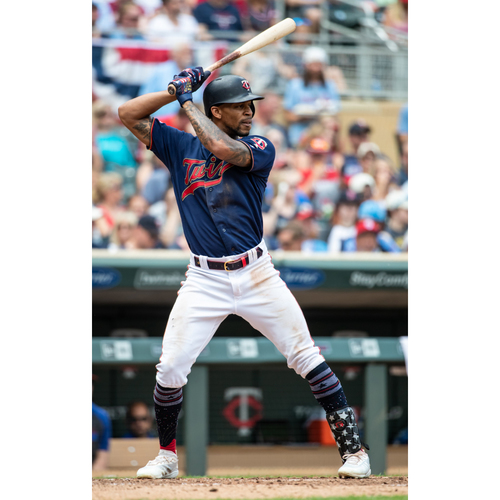 Photo of Byron Buxton Game-Used Home Navy Jersey