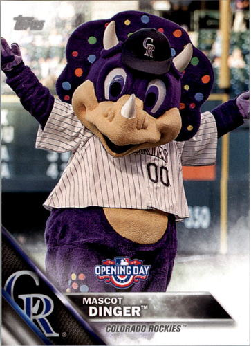 Photo of 2016 Topps Opening Day Mascots #M13 Dinger