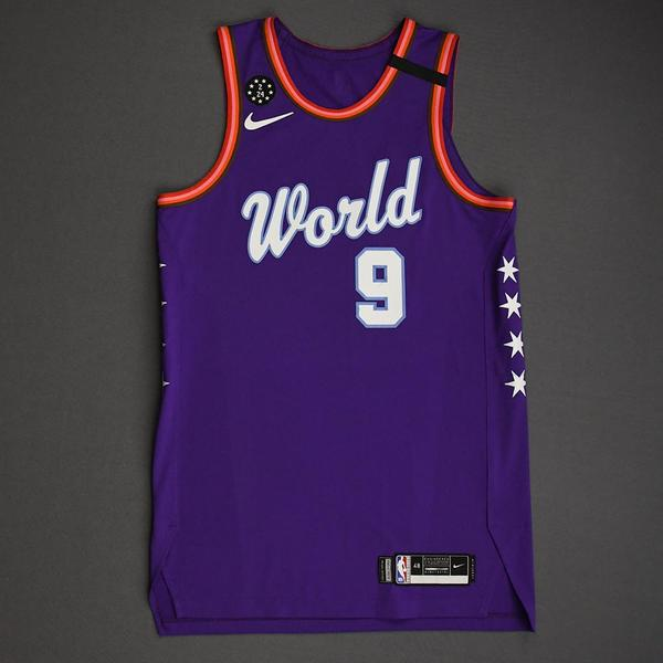 Image of RJ Barrett - 2020 NBA Rising Stars - Team World - Game-Worn 1st Half Jersey - Game-High 27 points