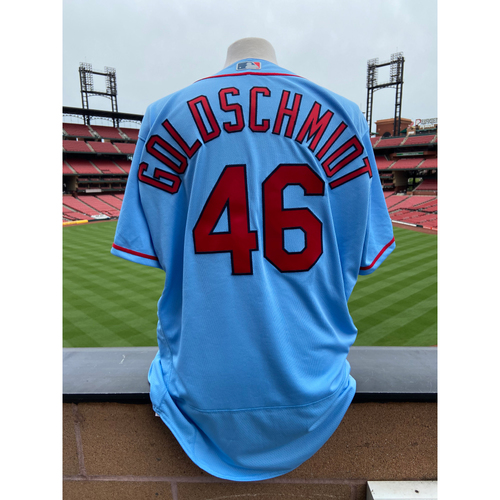 Photo of Cardinals Authentics: Team Issued Paul Goldschmidt Road Blue Alternate Jersey