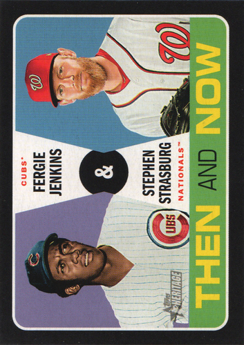 Photo of 2020 Topps Heritage Then and Now #TN12 Stephen Strasburg/Fergie Jenkins