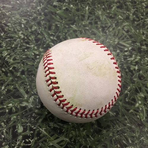 Photo of ALEC MILLS' NO-HITTER Game-Used Baseball CHC@MIL 09/13/20 - Drew Rasmussen - Willson Contreras: Single