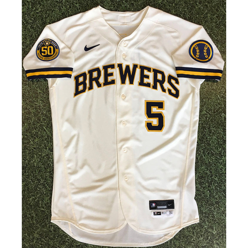 Photo of Jedd Gyorko 2020 Team-Issued Home Cream Jersey