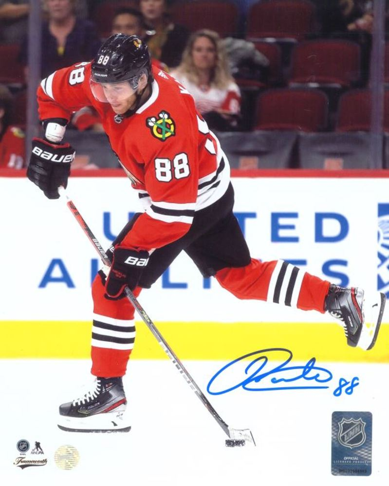Patrick Kane Signed 8x10 Unframed Blackhawks Red Shooting