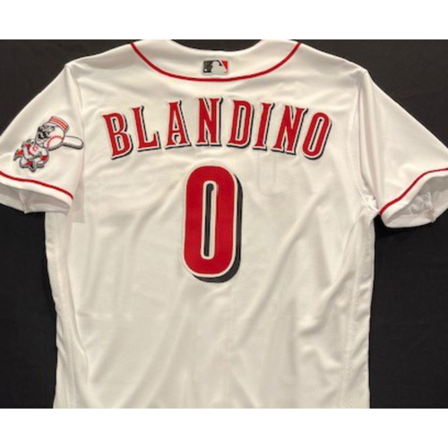 Photo of Alex Blandino -- 2020 Home White Jersey -- Team Issued -- Size 44
